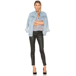 AG Black Coated The Legging in Super Skinny Jeans